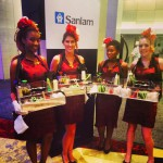 Sushi Queens go all out for Sanlam at the Westin Hotel, Cape Town.