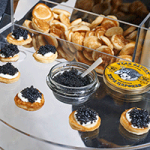 Caviar Queens serving tray.