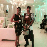 Bubbly Queen and Oyster King at a White Party in Johannesburg.