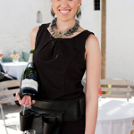 Bubbly Queen at wedding expo, Groot Constansia, Cape Town.