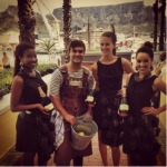 Oyster King and Bubbly Queens at Table bay Hotel, Cape Town.