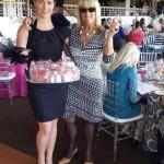 Fortune Cookie Queen is a hit at the Ladies Luncheon at Kenilworth Race course today.