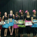 Macaron Queens, Cake Pop Queens and Fortune Cookie Queens at FNBSA day, JHB Dome.