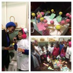 The Oyster King team decorates cake pops at Al-Noor orphanage for Mandela day.
