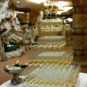 Champagne towers!